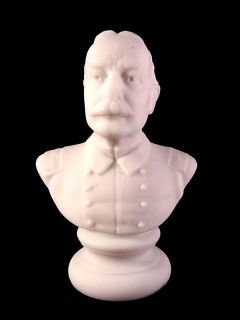 Antique Milk Glass Admiral Dewey Statuette Gillinder 1900