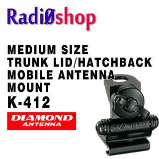 Diamond K 412 Trunk Lip Mobile Ham Radio Antenna Mount
