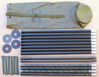 Portable Field Day Radio Antenna Kit 56 Stacking Poles. 25% Shipping