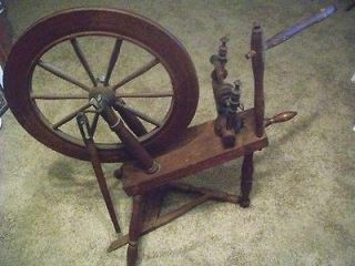 Wooden Spinning Wheel (1800s)   Local Pickup Only   Akron, Ohio