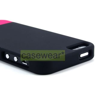 Black Pink Dockable Slim Rubberized Hard Case Snap on Cover for Apple