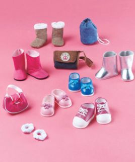 18 inch doll clothing accessories boots shoes bags purse for American
