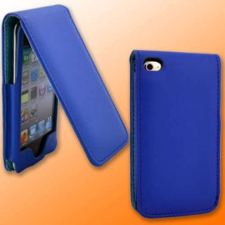 Blue Leather Case for Apple iPod Touch 4G 4th Gen New