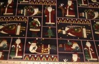 Debbie Mumm Fabric Cozy NW Christmas Sampler Squares on Black
