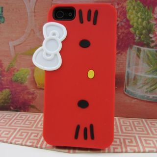 Kitty Rubber Silicone Skin Case Phone Cover for Apple iPhone 5
