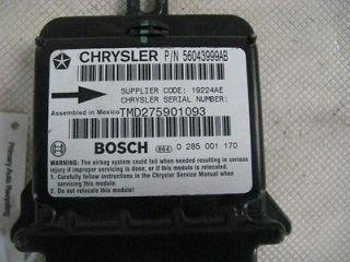 00 DODGE RAM 1500 VAN AIR BAG CONTROL MODULE COMPUTER 0 285 001 170