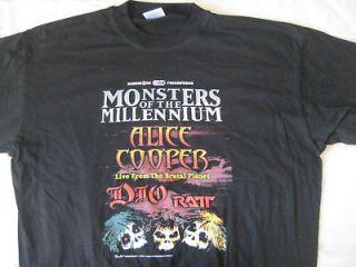 dio alice cooper ratt t shirt monsters of the mi