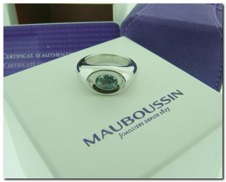 Mauboussin Paris Aquamarine Betty Solid 18K Gold Ring French