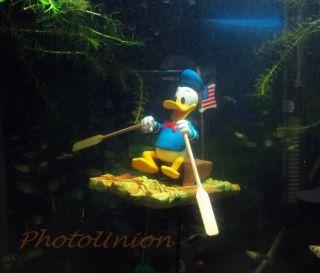 Aquarium Decoration Fish Tank Ornament Air Pump Bubbler Donald Duck