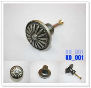 Antique Pewter Furniture Cabinet Door Handles Drawer Knob Pulls KO 001