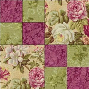 RJR Arabella Rose Floral Raspberry Mauve Green Fabric Pre Cut Quilt