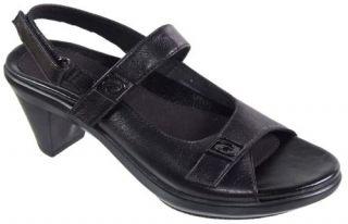 Aravon Ava Leather Leather Womens Sandal Mid High Heel Shoes Mid Heel