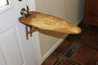 Vintage Antique Wood Ironing Board Waco Legless Handy Ann