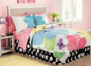 EYE CANDY 8pc Full COMFORTER SET   TEEN GIRL FLOWER POWER PURPLE BED