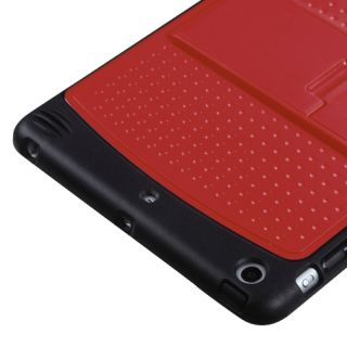 Apple iPad Mini Case   Red Black Hybrid Hard Faceplate/Skin Cover with