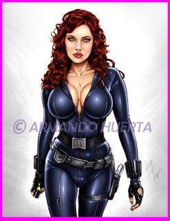 Armando Huerta Big 13x19 Print Sexy Black Widow Iron Man 2 Scarlett