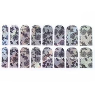Nail Art Sticker Colorful Patch Foils Armour Manicure Decoration V405