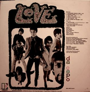 Love Da Capo LP Original Pressing Elektra Arthur Lee