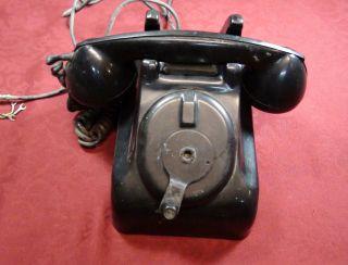 Vintage Bakelite Leich 901 Hand Crank Magneto Desk Phone Telephone
