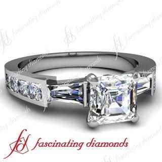 20 Ct Asscher Cut Diamond Engagement Ring 14k White Gold Cut Very