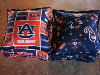 Cornhole Bags Auburn University Tigers Set of 8 Canvas Duck