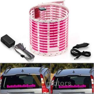 Car Sticker Sound Music Activated Sensor Pink LED Light Equalizer Glow