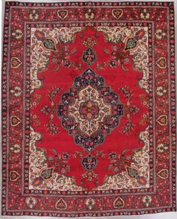 10x12 Red Antique Persian Tabriz Oriental Hand Knotted Wool Area Rug