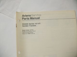 ariens garden tractor 16hp parts manual antique tractor vintage