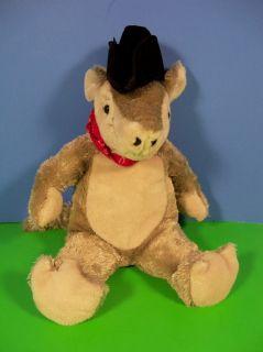 Armadillo w Cowboy Hat Red Bandana Bean Plush Stuffed Animal 10 Toy