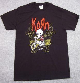 KORN Nu Metal Alternative Rock T shirt Mens Adult S,M,L,XL Black Tee