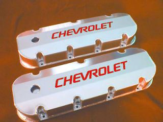 New BBC Chevy Fabricated Aluminum Valve Covers With Holes Big Block