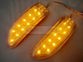 11 LED Car Turn Signal Indicator Mirror Light Amber
