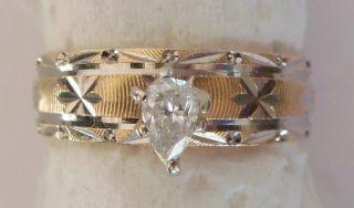 4895 DESIGNER 1 3 ct E VS1 PEAR CUT DIAMOND ENGAGEMENT RING 14k Gold 4