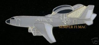 AUTHENTIC US AIR FORCE E 3 SENTRY AWACS HAT PIN AFB USAF PILOT AIRCREW