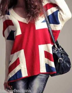 englands union jack chic slouchy modern soho sweater l xl