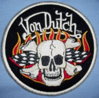 NWT Von Dutch MOTO RACING Patched Chopper/Hot Rod/Gasser Mechanic