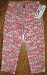 disney alex russo pink floral skinny pants sz 16 new