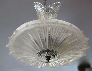 Fabulous Sunflower Crystal Art Deco Chandelier