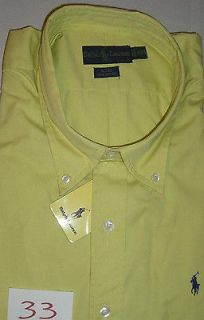 NWT RALPH LAUREN MEN BLAKE DRESS SHIRT COTTON SHORT SLEEVE LIME GREEN
