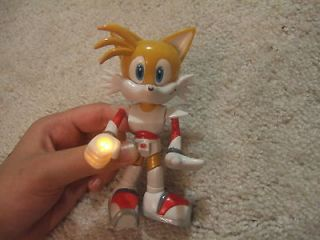 Sonic Hedgehog Tails Toy Action Figure 5 Twistable Hand Light Up Has