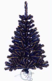 of West Virginia Blue and Yellow Artificial Mini Christmas Tree