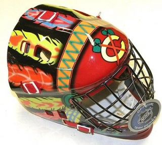 Newly listed Chicago Blackhawks Franklin Street Youth Goalie Mask Not