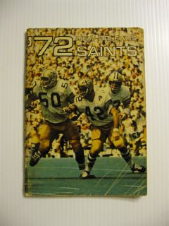 Saints Football Media Guide Archie Manning 2nd Year Tom Myers R