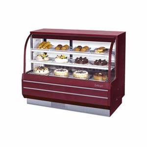 Turbo Air 60 5 Non Refrigerated Dry Bakery Display Case Curved Glass