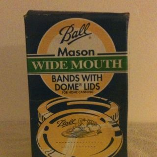 Ball Mason Wide Mouth Canning Jar Bands with Dome Lids Canning