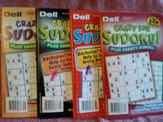 Dell Sudoku Puzzle Books   Crazy for Sudoku (3 are + Variety) 2011