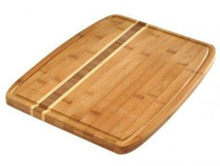 Norpro Bamboo Cutting Board with Juice Groove 16x12 Natural Eco