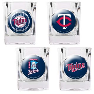 Great American Products MLB Square Shot Glass 4 Piece Set Individual