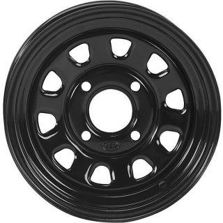 Foreman s ES F R 12 inch Gloss Black ITP Delta Steel ATV Rims