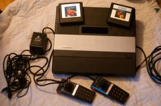Atari 5200 Console with Controllers and Games Pac Man Kangaroo